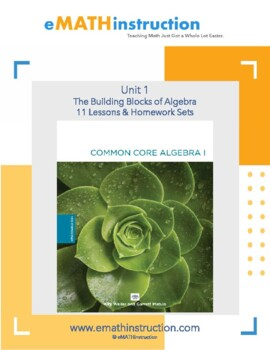 Common Core Algebra I - Unit #1.The Building Blocks of Algebra
