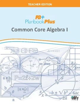 Common Core Algebra I Unit Plans