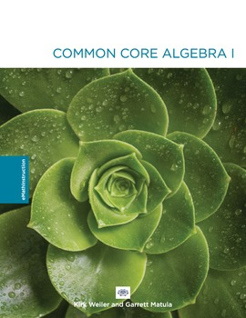 Common Core Algebra I - Unit #1.Answer Key