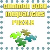 Common Core - Algebra Inequalities Puzzle - Math Fun