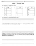 Common Core Algebra Practice Test! Fourth Grade!
