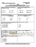Common Core Algebra Regents Review #2