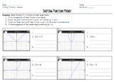 Common Core Algebra - Shifting Functions Worksheet - NYS Regents