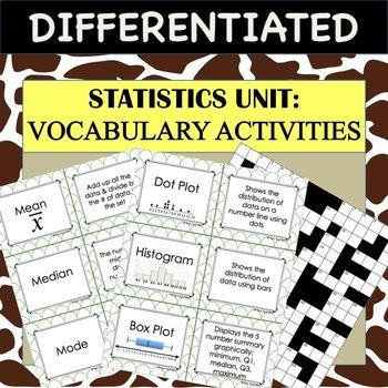 Common Core Algebra - Statistics Unit: Describing Data VOC