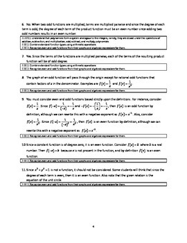 Common Core Algebra Task - Even, Odd or Neither