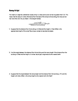 Common Core Algebra Task - Ramp It Up