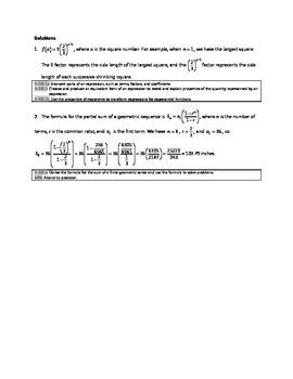 Common Core Algebra Task - Summing Squares