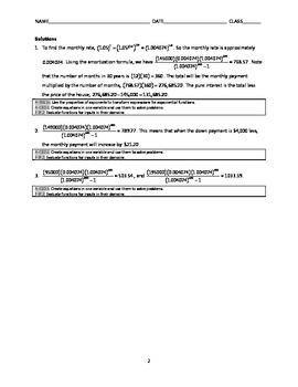 Common Core Algebra Task - The Dream House