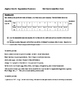 Common Core Algebra Test Corrections Hint Cards Exponentia