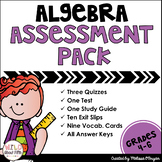 Algebra Assessment Pack - Order of Operations & Writing ex