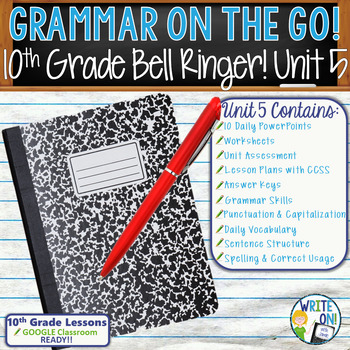 GRAMMAR & VOCABULARY PROGRAM - 10th Grade - Standards Based – Unit 5