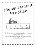 Common Core Aligned - 2nd Grade - Measurement Practice - I