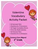 Common Core Aligned 3rd Grade Valentine Vocabulary Activit