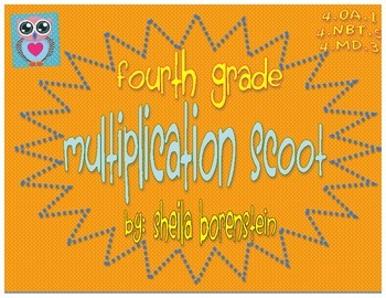 Common Core Aligned: 3rd or 4th Grade Multiplication Scoot (practice or review)