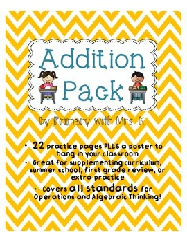 Common Core Aligned Addition Pack