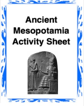Ancient Mesopotamia Worksheet Common Core Learning Standards
