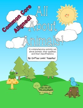 Common Core Aligned Animal Classifications Activities Pack