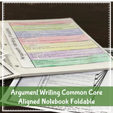 Common Core Aligned Argument Writing Foldable