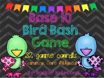 Common Core Aligned Base 10 Bird Bash Game
