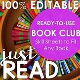 Book Clubs: Common Core Aligned *100% EDITABLE*