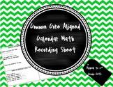 Common Core Aligned Calendar Math Template