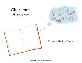 Common Core Aligned Character Analysis Booklet Printable