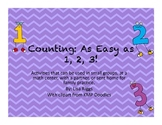 Common Core Aligned Counting Activities, K and 1st grade