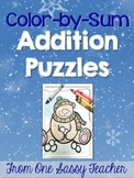 Common Core Aligned Winter Color by Sum Puzzles