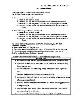 Common Core Aligned DOL Assessment Quarter 4