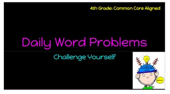 4th Grade Math Common Core Aligned Daily Review Slides