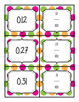 Decimal to Fraction Memory Game