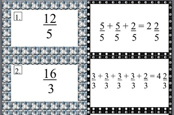 Common Core Aligned Decomposing  Improper Fractions to Mixed Numbers