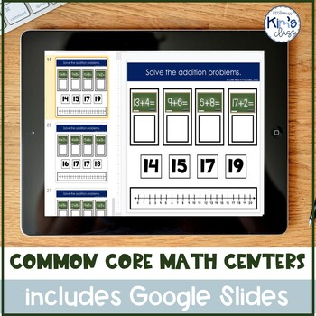 Common Core Aligned & Differentiated Math Centers for Special Needs