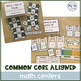 Common Core Aligned & Differentiated Math Centers, include