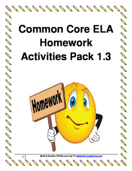 ELA Homework Activities Pack 1.3 (Free for a limited time)