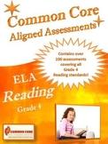 Common Core Aligned ELA Reading Assessment Bank Grade 4
