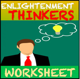 Enlightenment Thinkers Worksheet: Common Core Learning Sta