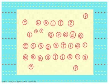 Common Core Aligned Essential Questions 1st Grade Unit 2