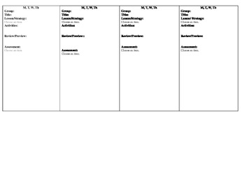 Common Core Aligned FIRST GRADE READING PLANS
