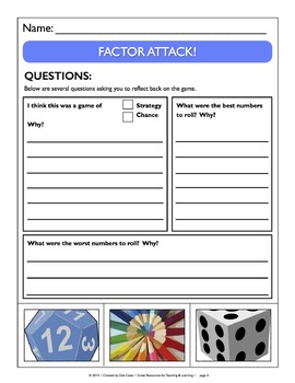 Common Core Aligned Factor Attack! A Factor Game for Gr. 3-5