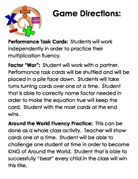 Common Core Aligned Factor Task Cards:  78 Total Cards/3 different activities!