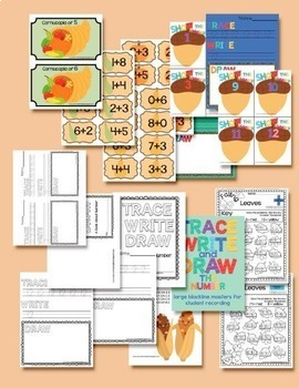 Fall Math Centres and Activities for Primary - Common Core Aligned