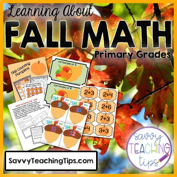 Fall Math Centres and Activities for Primary - Common Core