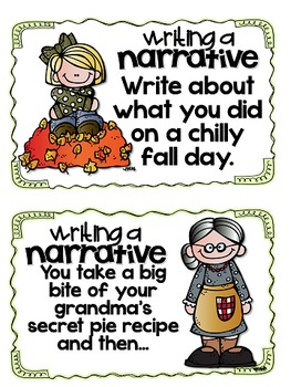 Fall Writing Prompts and Page