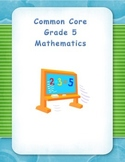 Common Core Aligned Fifth Grade 2-Digit Division