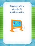 Common Core Aligned Fifth Grade Decimals - Division