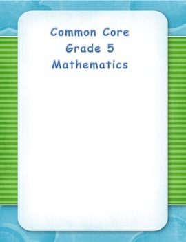 Common Core Aligned Fifth Grade Place Value