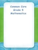 Common Core Aligned Fifth Grade Place Value