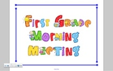 Common Core Aligned First Grade Morning Meeting Board, Smartboard