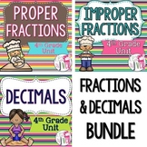 Fractions and Decimals LESSONS Bundle - 4th Grade
